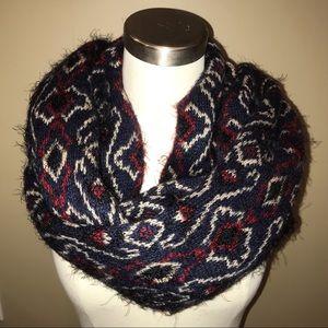 Anthropologie Madison 88 Fuzzy Knit Infinity Scarf
